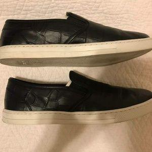 Coach Parkside Crocodile/Calf Black Size 8.5M